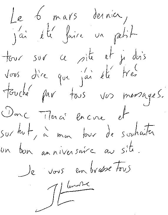 Joyeux Anniversaire Jean Luc